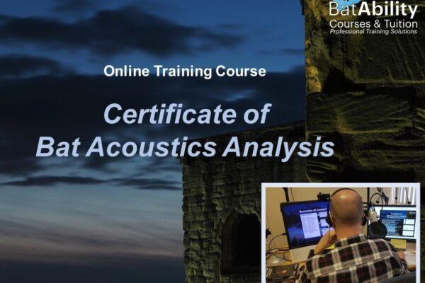 Certificate of Bat Acoustics Analysis (online) - BatAbility